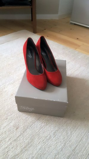 Taupage Pumps rot Wildleder