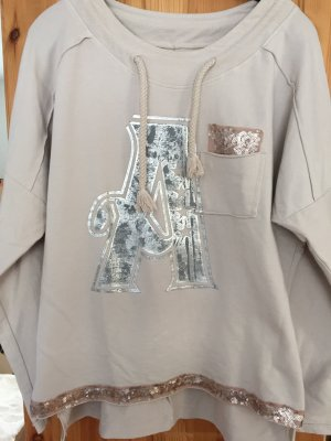 Taupe farbener oversiced Pullover italienische Mode