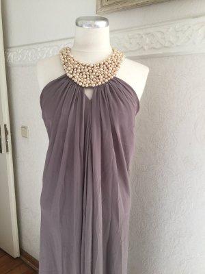 Taupe Kleid,mit Perlen