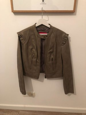 Guess Leather Jacket grey brown