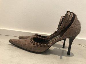 Ashley Brooke Zapatos marrón grisáceo Cuero