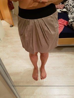 taupefarbener Rock high waist