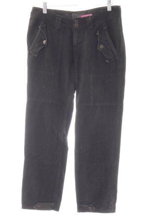 Taverniti So Pantalon cargo brun foncé motif en zigzag style décontracté