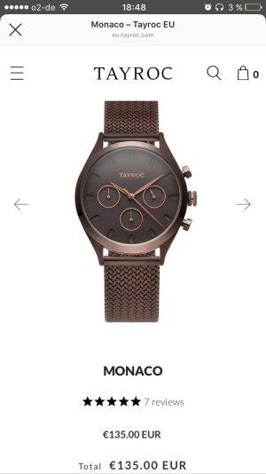 Reloj marrón oscuro
