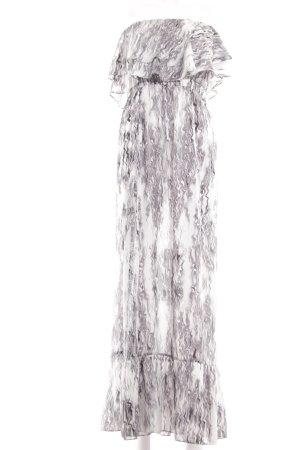 tbagslosangeles Off the shoulder jurk lichtgrijs-wit kleurverloop elegant