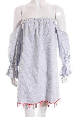 tbagslosangeles schulterfreies Kleid Streifenmuster Street-Fashion-Look