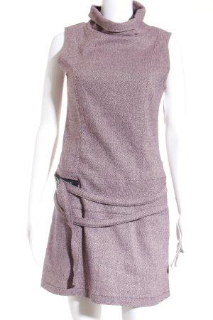 Tcheka Mini-jurk lila-mauve zigzag patroon pluizig