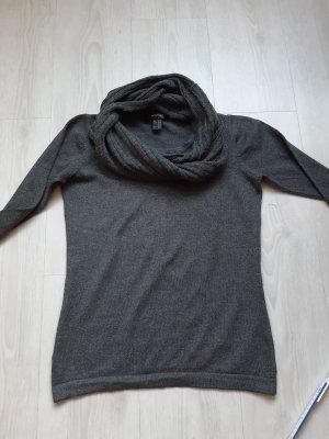 Tchibo: Feinstrick Langarm Pulli mit abnehmbarem Schlauchschal 38,grau