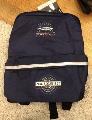 Tchibo / TCM Mini sac à dos argenté-bleu foncé