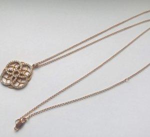 Tchibo Silber-Kette, rosévergoldet, mit Zirkonia. Neu