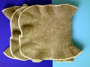 Tchibo, TCM, Damen Strick Set, Schal, Strickschal, Handschuhe, grau / silber