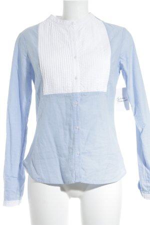 Tchibo / TCM Blusa-camisa azul celeste-blanco estilo «business»