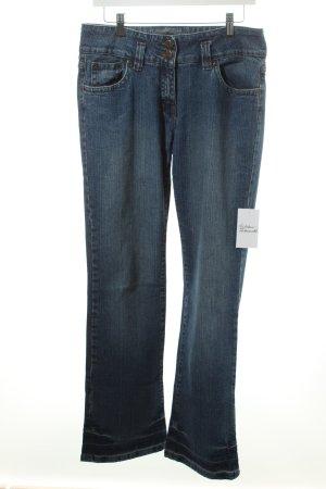Tchibo / TCM Jeansschlaghose dunkelblau Street-Fashion-Look