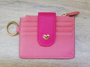 Tchibo/TCM Karten-/Münzetui Leder in rosa/pink