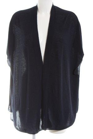 Tchibo / TCM Short Sleeve Knitted Jacket blue casual look