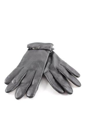 Tchibo / TCM Guantes de cuero negro elegante