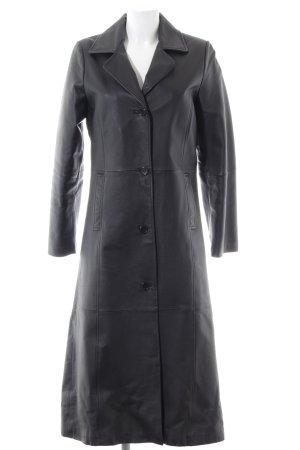 Tchibo / TCM Abrigo de cuero negro look casual