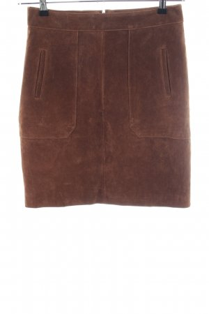 Tchibo / TCM Leather Skirt brown casual look