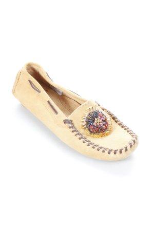 Tchibo / TCM Mocassino color cammello motivo floreale stile stravagante