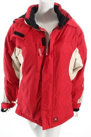 Tchibo / TCM Outdoorjacke rot-weiß sportlicher Stil