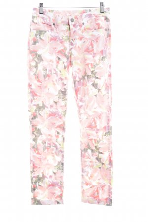 Tchibo / TCM Drainpipe Trousers floral pattern classic style
