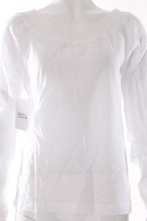 Tchibo / TCM Rüschen-Bluse weiß Transparenz-Optik