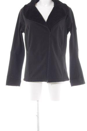 Tchibo / TCM Softshelljacke schwarz sportlicher Stil
