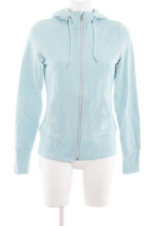 Tchibo / TCM Sweat Jacket azure-baby blue flecked athletic style