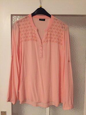 TCM Bluse rosa aprikot 36 Lochmuster