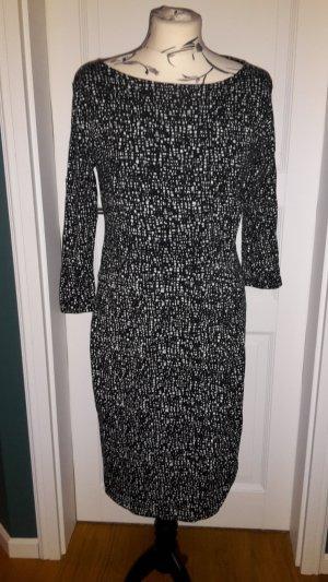 TCM by Tchibo Tunika Kleid Gr. 38 schwarz mit weißem Muster