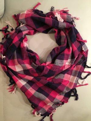 TCM kariertes Tuch rosa und lila, NEU und ungetragen