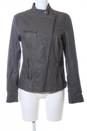 TCM Faux Leather Jacket light grey casual look