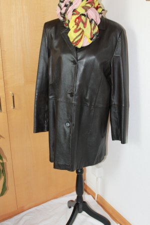 TCM Leather Coat black brown leather