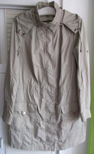 TCM lange Sommerjacke beige Outdoor Damenjacke leichte Jacke Kapuze Gr. 50