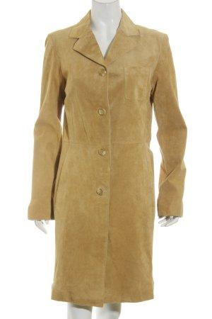TCM Ledermantel beige Street-Fashion-Look