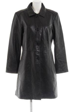TCM Leather Coat black casual look