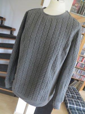 TCM Sweatshirt Zopfmuster Thermo grau Gr. 40 42  ungetragen