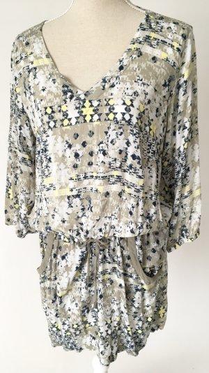 TCM Tchibo Kleid 40 L casual sommer grün khaki gelb