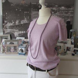 TCM Tchibo * Süßer Kurzarm Pullover * pastel lila flieder + Ärmbänder * 40/42