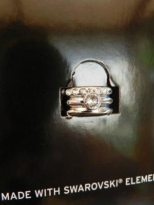 TCM Tchibo Triologie Silber Ring-Set mit SWAROVSKI ELEMENTS Gr. 18