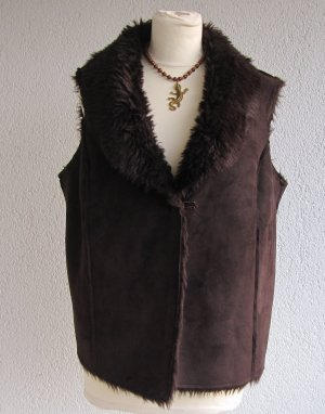 Tchibo / TCM Gilet réversible brun foncé polyester