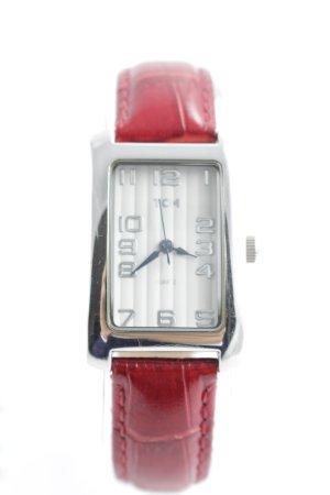 TCM Horloge met lederen riempje veelkleurig extravagante stijl