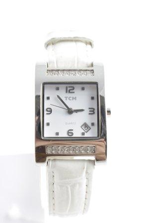 """TCM Reloj con pulsera de cuero """"Stainless Steel"""""""