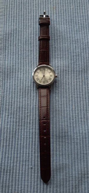 TCM Watch With Leather Strap brown-brown red
