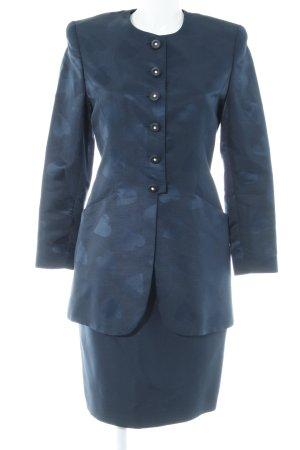 Team Collection Munich Tailleur blu scuro Herzmuster stile classico