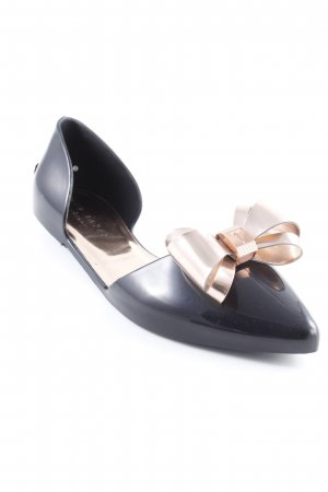 Ted baker Ballerinas with Toecap black-rose-gold-coloured elegant