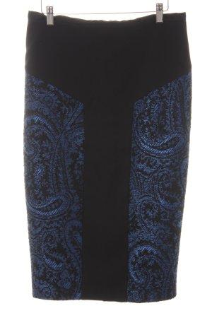 Ted baker Bleistiftrock schwarz-blau abstraktes Muster Elegant
