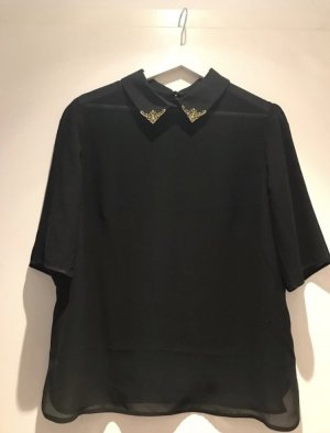 Ted baker Stand-Up Collar Blouse black-gold-colored