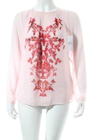 Ted baker Bluse hellrosa-magenta florales Muster Transparenz-Optik