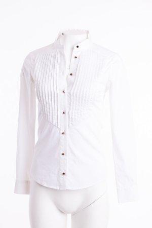 TED BAKER - Bluse mit Biesen und Stehkragen Weiß